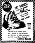 Sears Ad Santa Claus