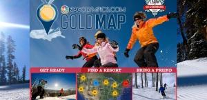 NBC Olympics Gold Map