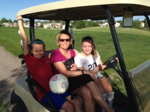 Farrell Girls in the Cart