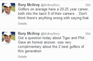 Rory Tweets About Tiger and Phil