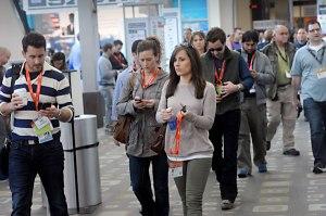 SXSW Walking Texting