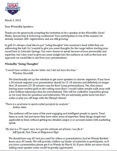 SwimBiz Speaker Letter