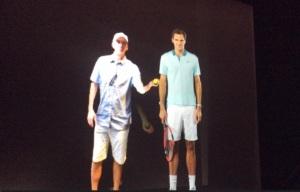 U.S. Open Tennis - Roger Federer Hologram